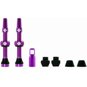 Muc-Off MTB & Road Tubeless Ventil Set 60mm lila